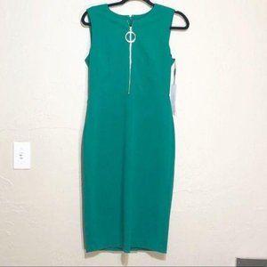 Calvin Klein Green Dress with Gold Zipper 6